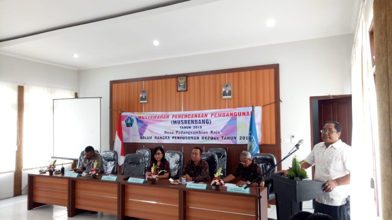 Musrenbang Desa Padangsambian Kaja Tahun 2018